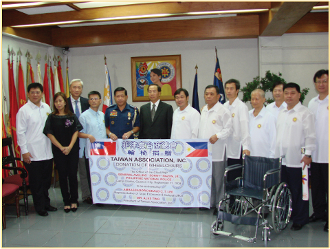 Wheel Chair Donation to PNP 2008.9.11