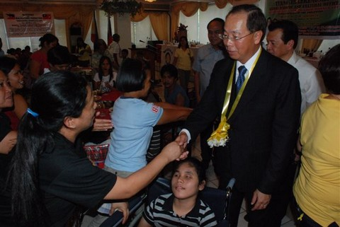 1st Wheelchair donation