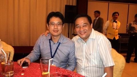 1.本會李誠正文宣主委(右)與 Life Renewable Co.,Ltd 總經理Jeff Lin (左) 合影。